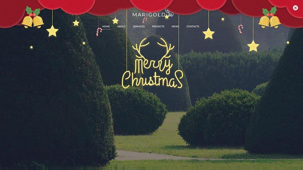 网站圣诞装扮效果